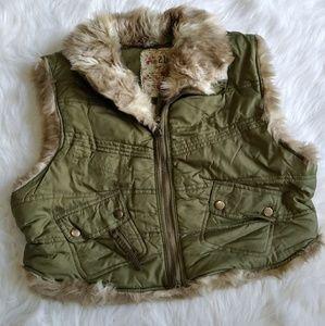 Rue21 Army Green Crop Vest